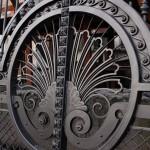 фото кованых ворот Тантьема